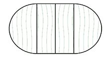 Round with Center Leaves Configuration