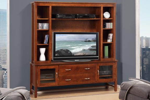 "Photo of Brooklyn 74"" HDTV Cabinet With Hutch"
