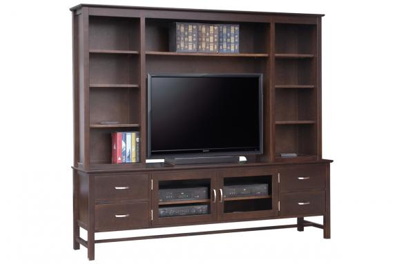 "Photo of Brooklyn 84"" HDTV Cabinet With Hutch"