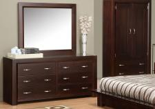 Contempo 6 Drawer Dresser & Mirror
