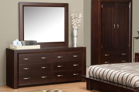 Photo of Contempo 6 Drawer Dresser & Mirror