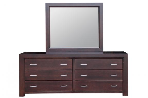 Photo of Contempo 6 Drawer Long Dresser & Mirror