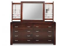 Contempo 8 Drawer Dresser & Mirror
