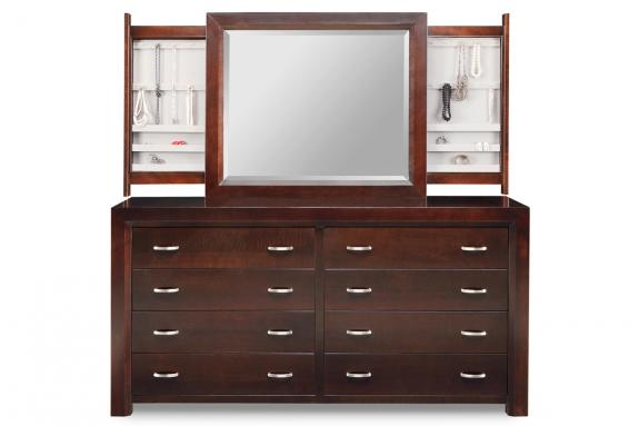 Photo of Contempo 8 Drawer Dresser & Mirror