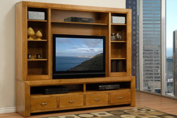 Photo of Contempo 82'' HDTV Console w/ Hutch