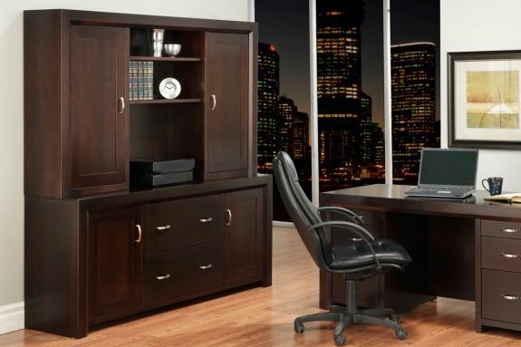 Photo of Contempo Office Credenza w/Hutch