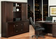 Photo of Contempo Office Credenza w/Hutch