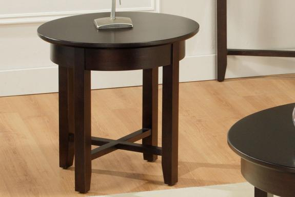 Photo of Demilune Round End Table
