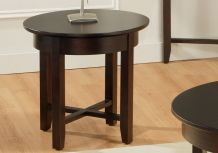 Demilune Round End Table
