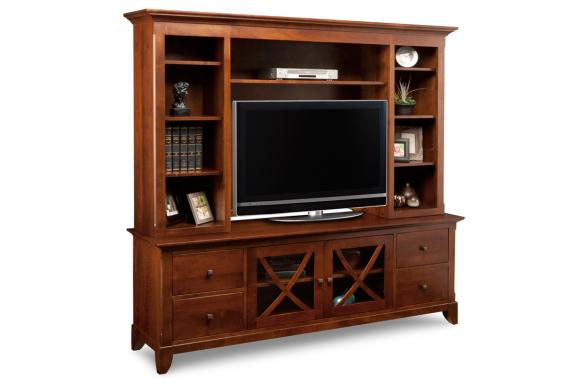 "Photo of Florence 83"" HDTV Cabinet with Hutch"