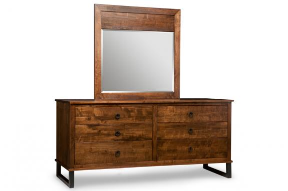 Photo of Cumberland 6 Drawer Long Dresser & Mirror