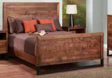 Cumberland Bed w/wood Headboard w/high Footboard