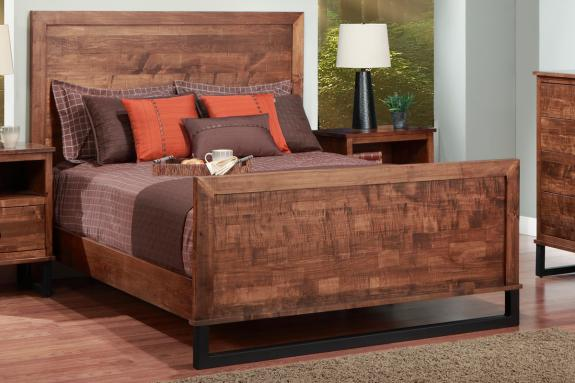 Photo of Cumberland Bed w/wood Headboard w/high Footboard