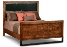 Cumberland Bed w/Leather Headboard w/high Footboard