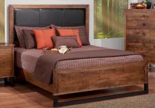 Cumberland Bed w/Leather Headboard w/low Footboard
