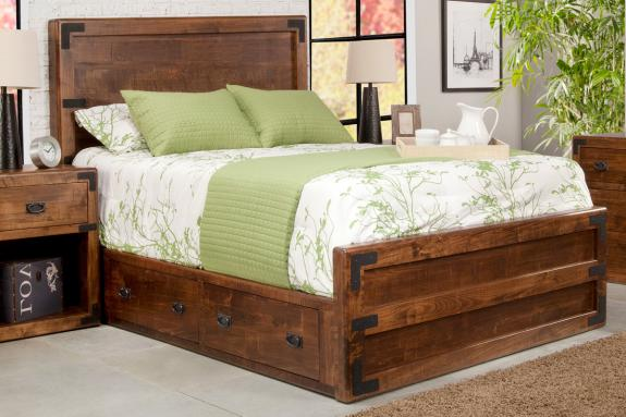 Photo of Saratoga Storage Bed w/Low Footboard