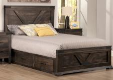 Chattanooga Storage Bed With Low Footboard