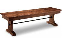 "Glengarry 60"" Pedestal Bench"