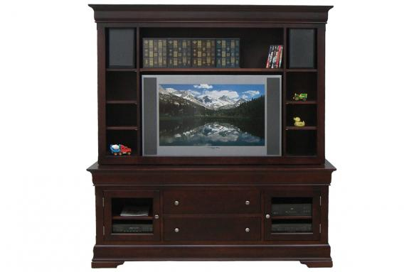 """Photo of Phillipe 74"""" HDTV Cabinet With Hutch"""