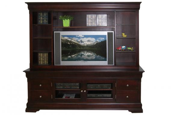"Photo of Phillipe 84"" HDTV Cabinet with Hutch"