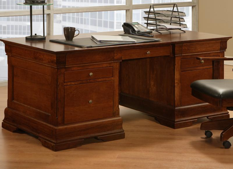 Phillipe Executive Desk Handstone