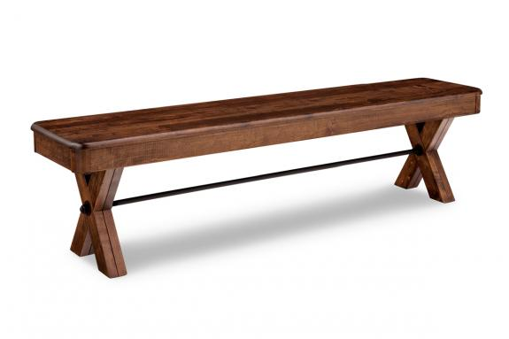 "Photo of Saratoga 72"" Bench with Wood Seat"