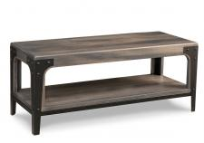 "Portland 48"" Bench with Wood Seat"