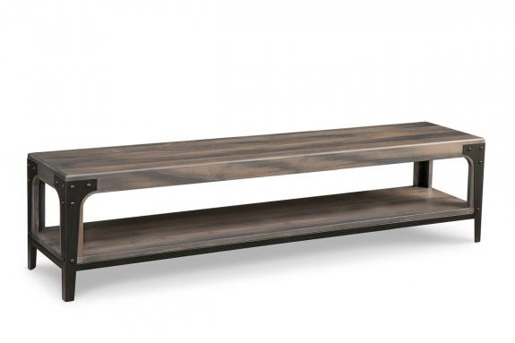 "Photo of Portland 72"" Bench with Wood Seat"