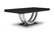 Contempo Metal Curve Pedestal Dining Table