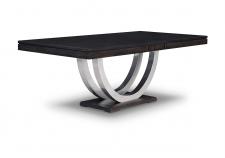 Contempo Metal Curve Pedestal Dining Table