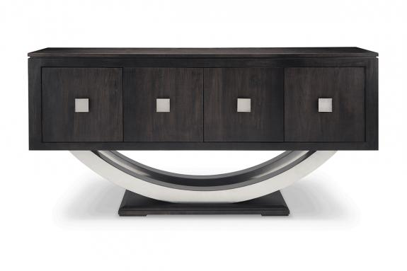 Photo of Contempo Metal Curve Sideboard