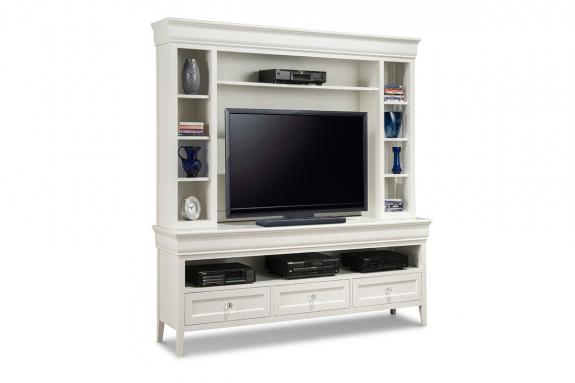 "Photo of Monticello 74"" HDTV Cabinet with Hutch"