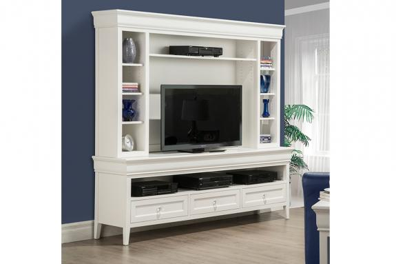 "Photo of Monticello 84"" HDTV Cabinet with Hutch"