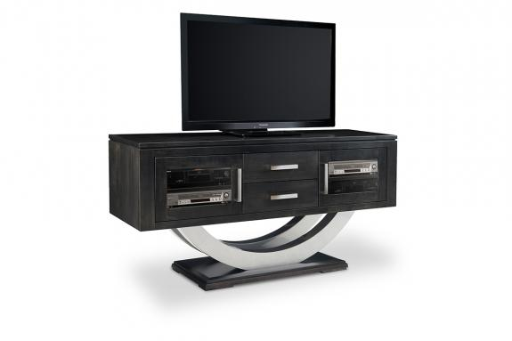 Photo of Contempo Metal Curve Pedestal HDTV Cabinet