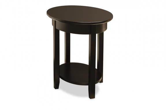 Photo of Demilune Elliptical Oval End Table