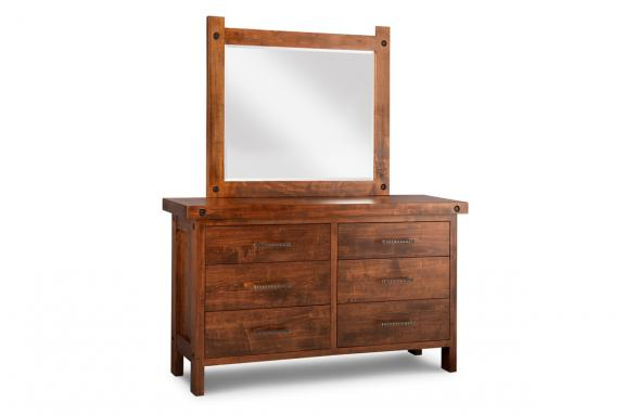 Photo of Rafters 6 Drawer Dresser & Mirror
