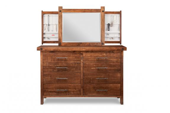 Photo of Rafters 8 Drawer Dresser & Mirror