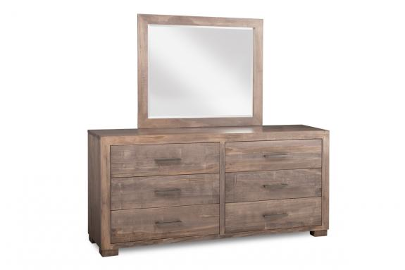 Photo of Steel City 6 Drawer Long Dresser & Mirror