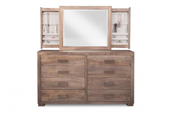 Photo of Steel City 8 Drawer Dresser & Mirror