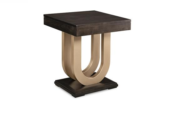 Photo of Contempo End Table w/Metal Curves