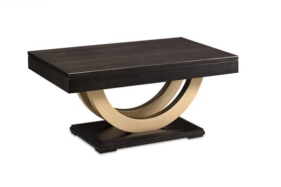 Photo of Contempo Condo Coffee Table w/Metal Curves