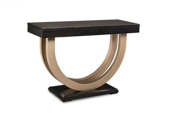 "Photo of Contempo 46"" Sofa Table w/Metal Curves"