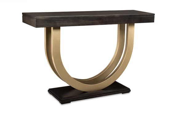 """Photo of Contempo 54"""" Sofa Table w/Metal Curves"""