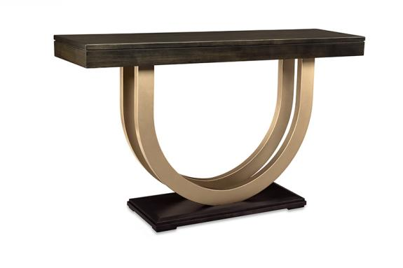 """Photo of Contempo 60"""" Sofa Table w/Metal Curves"""